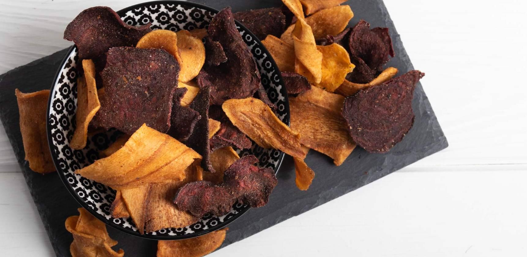 chips de patate douce et betterave recette facile