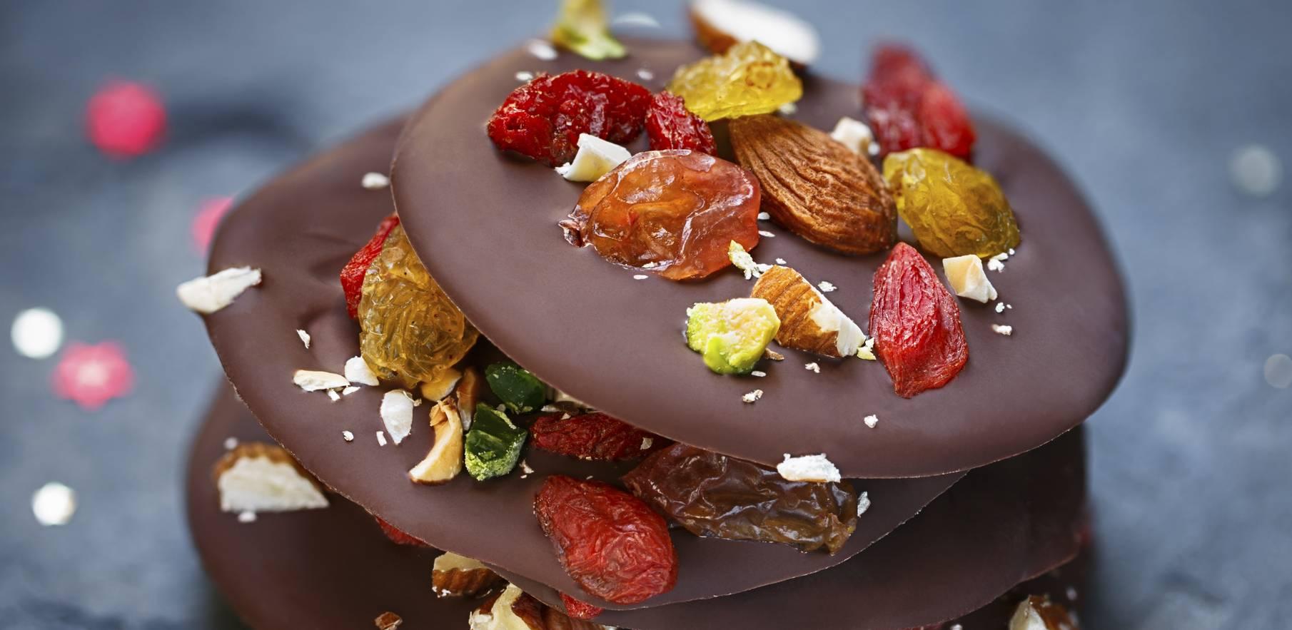 Recette facile de mendiants au chocolat