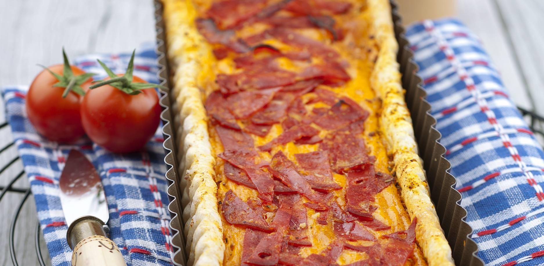 Quiche tomate et chorizo