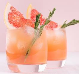 Cocktail marquisette rosé