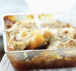 Crumble pommes et caramel beurre salé