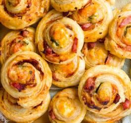 escargots ,feuilletés, jambon fromage,