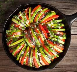 Gratin de légumes au comté