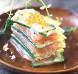 Mille-feuille saumon