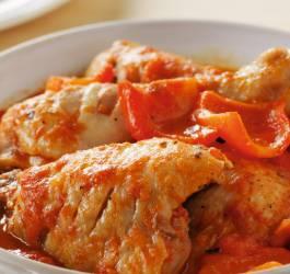 recette poulet, basquaise,