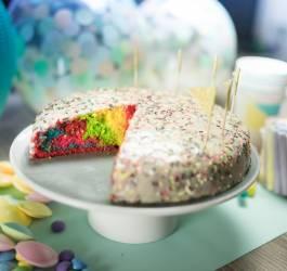 Mes Recettes Rainbow cake gâteau arc-en-ciel