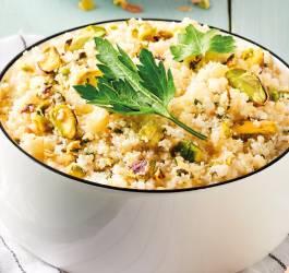recette facile et express taboulé de chou fleur pistaches boulgour printanier bio