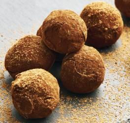 Recette fête de truffes au chocolat et pomme curry